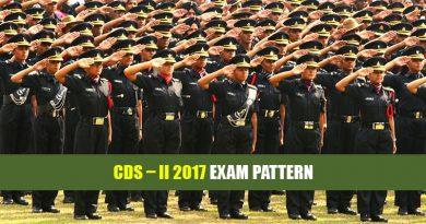 CDS – 2 2017 Exam Pattern