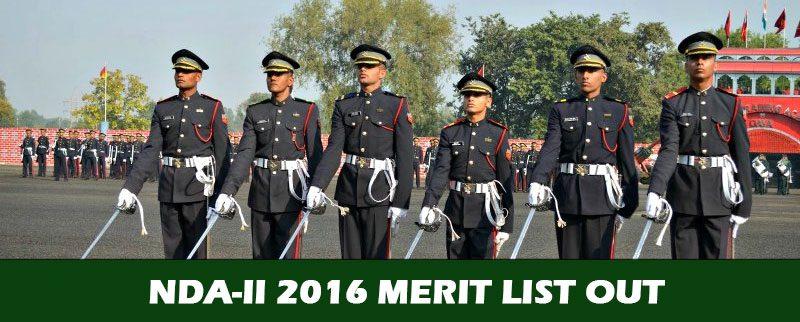 NDA-II 2016 Merit List Out