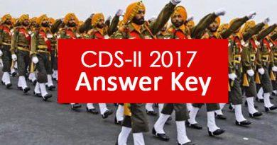 CDS-II 2017 Answer key