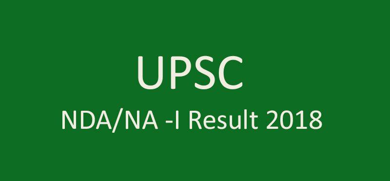 UPSC NDA, NA I Result 2018
