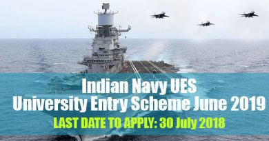 Indian Navy UES (University Entry Scheme June 2019)