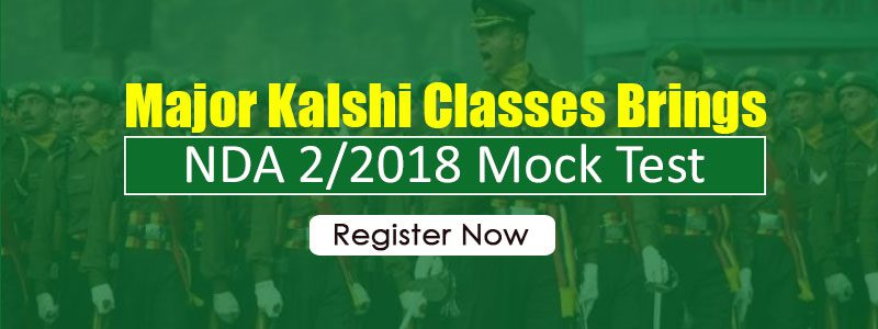 Major Kalshi Classes brings NDA 2/2018 Mock Test