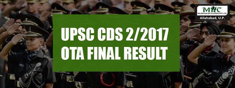 UPSC CDS 2/2017 OTA FINAL RESULT