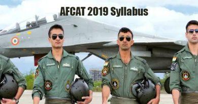 AFCAT 2019 Syllabus