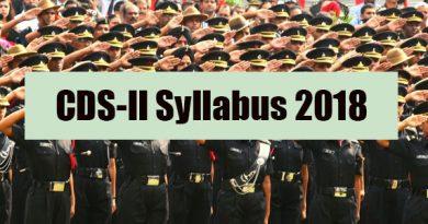 CDS-II Syllabus 2018