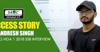 clearing NDA 1 2018 SSB Interview