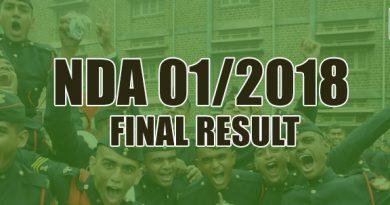 NDA 01/2018 FINAL RESULT