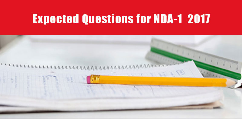 Expected Questions for NDA-I, 2017