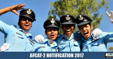 AFCAT-2 NOTIFICATION 2017