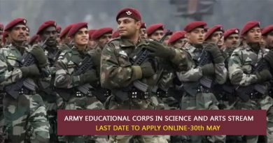 Army Educational Corps In Science And Arts Stream