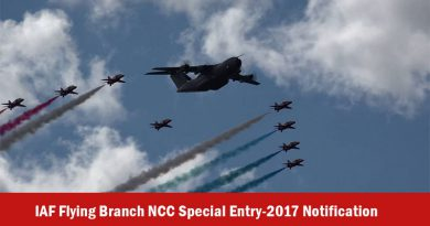 IAF Flying Branch NCC Special Entry-2017 Notification
