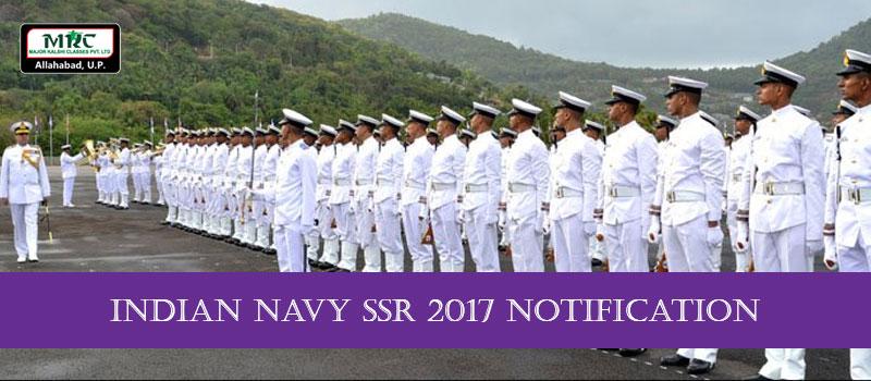 Indian Navy SSR Notification