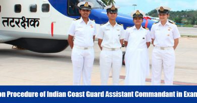 Selection Procedure of Indian Coast Guard Assistant Commandant in Examination