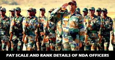 Pay Scale and Rank details of NDA Officers