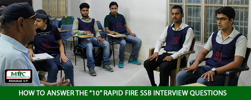 Rapid Fire Question asked in SSB Interview