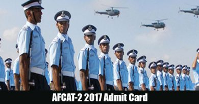 Download AFCAT-2 2017 Admit Card