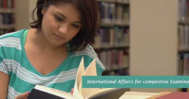 International Affairs for competitive Examination