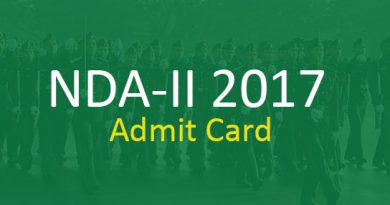 NDA-II 2017 Admit Card