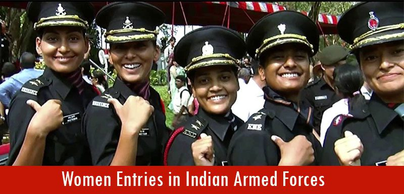 Women Entries in Indian Armed Forces
