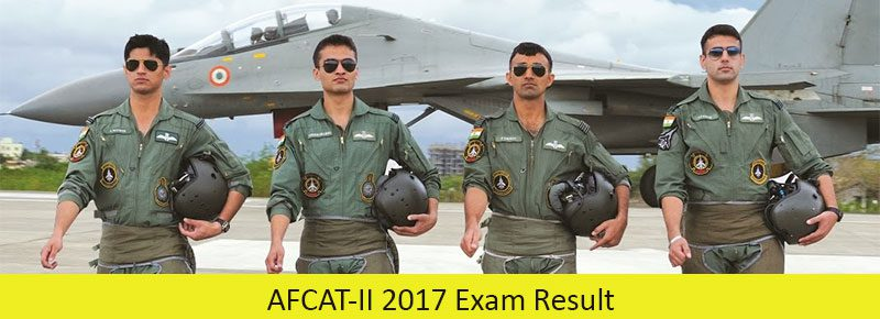 AFCAT-II 2017 Exam Result