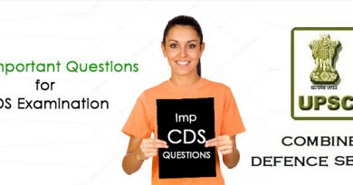 Most Important Questions for CDS Examination