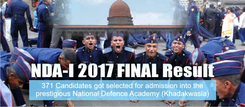 NDA-I 2017 FINAL Result