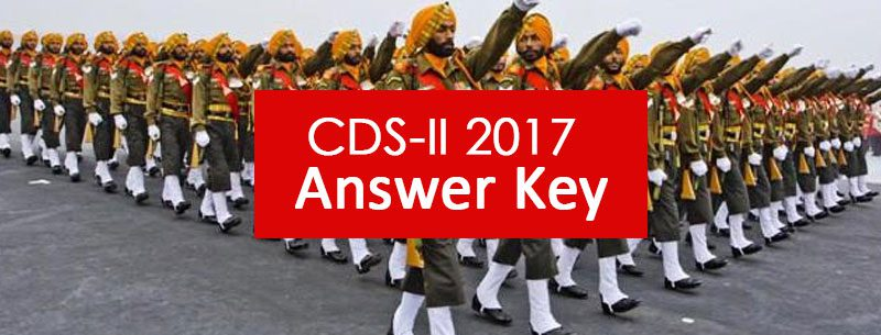 CDS-II 2017 Answer key
