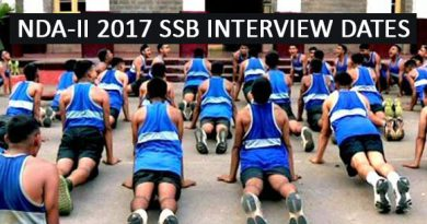 NDA-II 2017 SSB INTERVIEW DATES