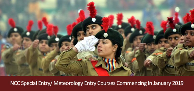 NCC Special Entry/ Meteorology Entry Courses Commencing In January 2019