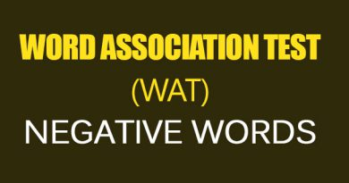 WORD ASSOCIATION TEST (WAT) NEGATIVE WORDS
