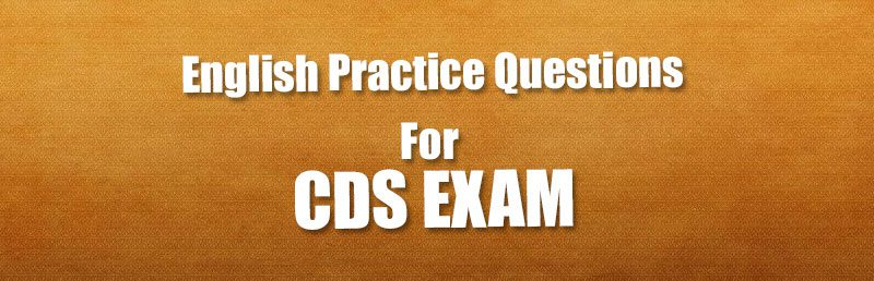English Practice Questions For Cds Exam