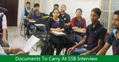 Documents To Carry At SSB Interview