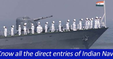 Know all the direct entries of Indian Navy