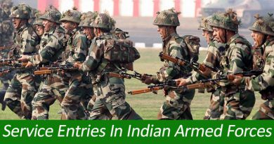 Service Entries In Indian Armed Forces