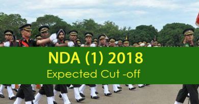 NDA-1 2018 Cut-Off (Expected)