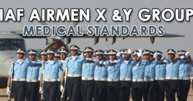 IAF AIRMEN X &Y GROUP MEDICAL STANDARDS