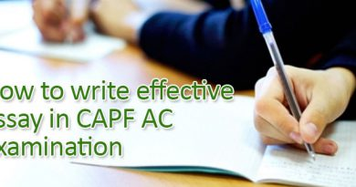 How to write effective essay in CAPF AC Examination