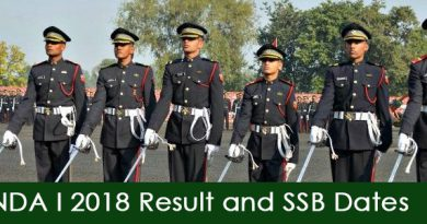 NDA I 2018 Result and SSB Dates
