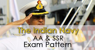 Indian Navy AA & SSR Exam Pattern