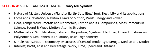SECTION A - SCIENCE AND MATHEMATICS