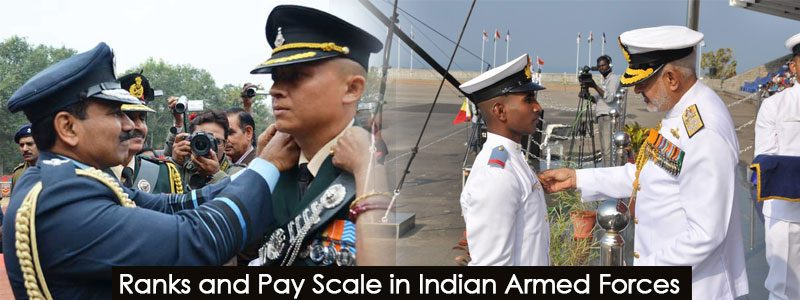 Ranks and Pay Scale in Indian Defence Forces