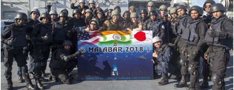 Trilateral Naval Exercise Malabar 2018