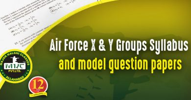 Airforce X and Y Group syllabus