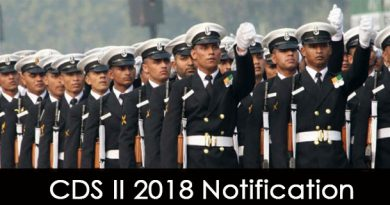 CDS II 2018 Notification