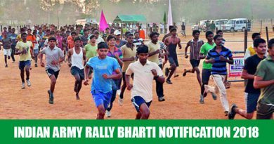 Indian Army Rally Bharti Notification 2018