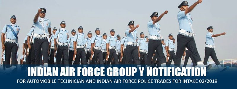 INDIAN AIR FORCE GROUP Y NOTIFICATION