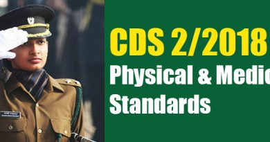 CDS 2/2018 -Physical & Medical Standards