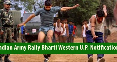 Indian Army Rally Bharti Western U.P. Notification 2018