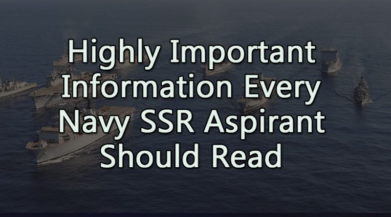 Highly Important Information every Navy SSR
