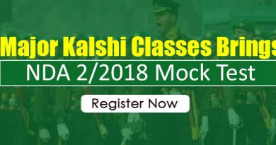 Major Kalshi Classes brings NDA 2/2018 Mock Test